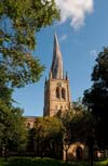 Photograph Chesterfield church   in Derbyshire