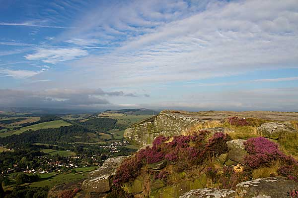 photograph from Curbar Edge in Derbyshire